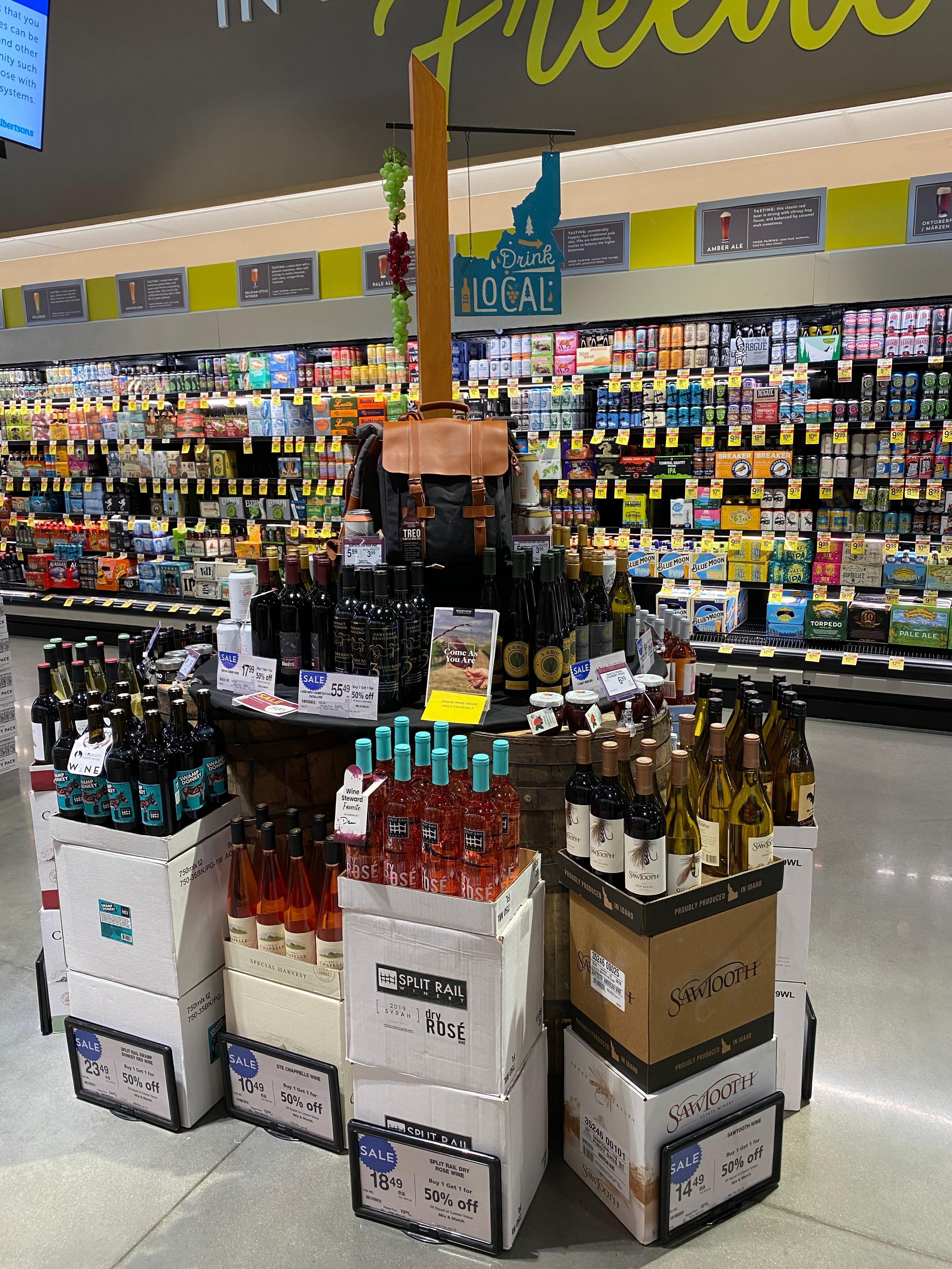 Idaho Wine at Albertsons